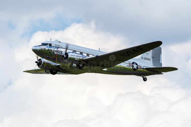 Douglas DC-3 Dakota transport plane warbird stock images