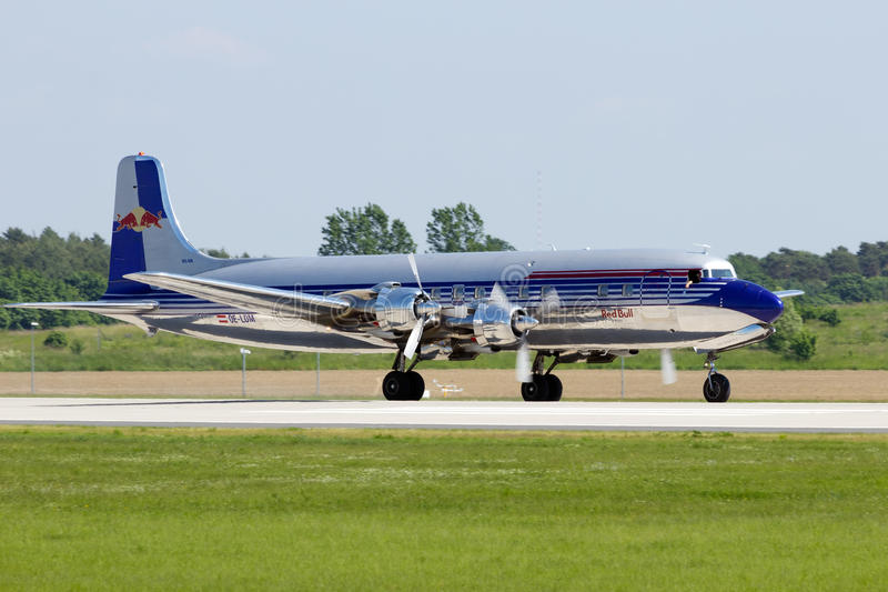 Douglas DC-6 rocznika samolot zdjęcia stock