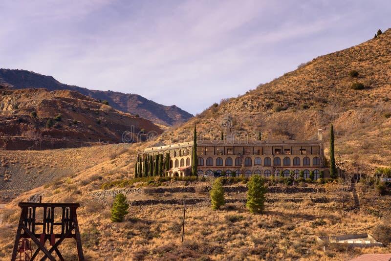Douglas dwór lokalizować w Jerome stanu Historycznym parku w Arizona zdjęcie stock