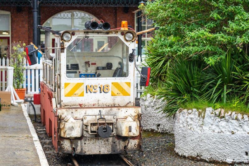 Douglas, ilha do homem, o 16 de junho de 2019 Esta locomotiva foi comprada dos contratantes após a conclusão do trabalho e nomeou imagens de stock