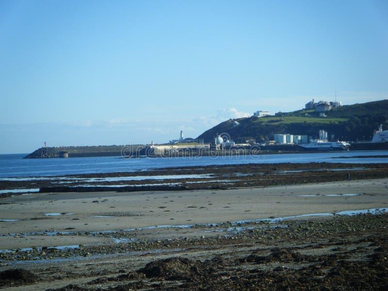 Douglas Pier en la isla del hombre foto de archivo