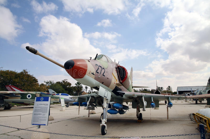 Douglas Skyhawk A-4H - single seat carrier-capable attack aircraft developed for the United States Navy. HATZERIM, ISRAEL - FEBRUARY 02, 2012: Douglas Skyhawk A stock images