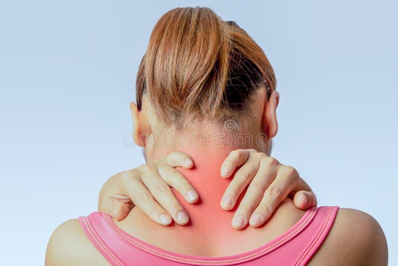Douleur à l'épine cervicale images stock