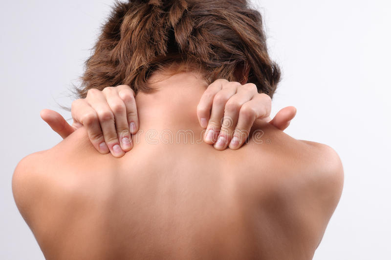 Douleur cervicale image stock