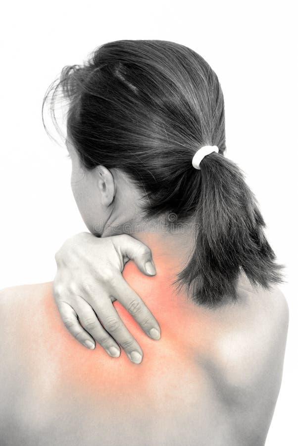 douleur cervicale photographie stock