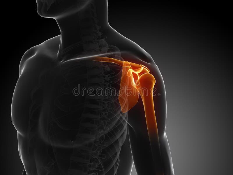 Douleur d'épaule illustration libre de droits