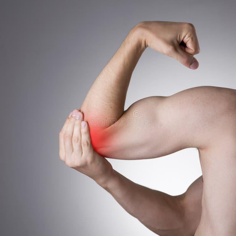 Douleur dans les joints des mains image stock