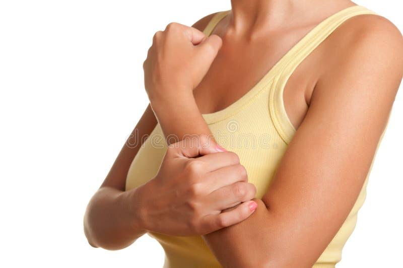 Douleur de bras images libres de droits