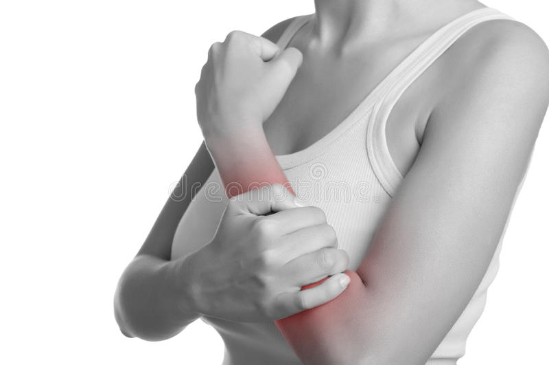 Douleur de bras photos libres de droits