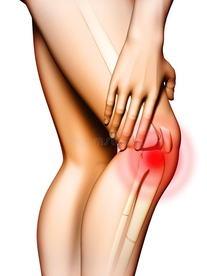 Douleur de genou illustration libre de droits