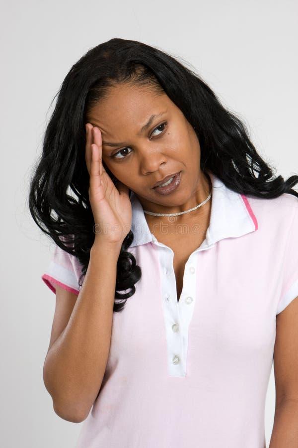 Douleur de mal de tête image stock