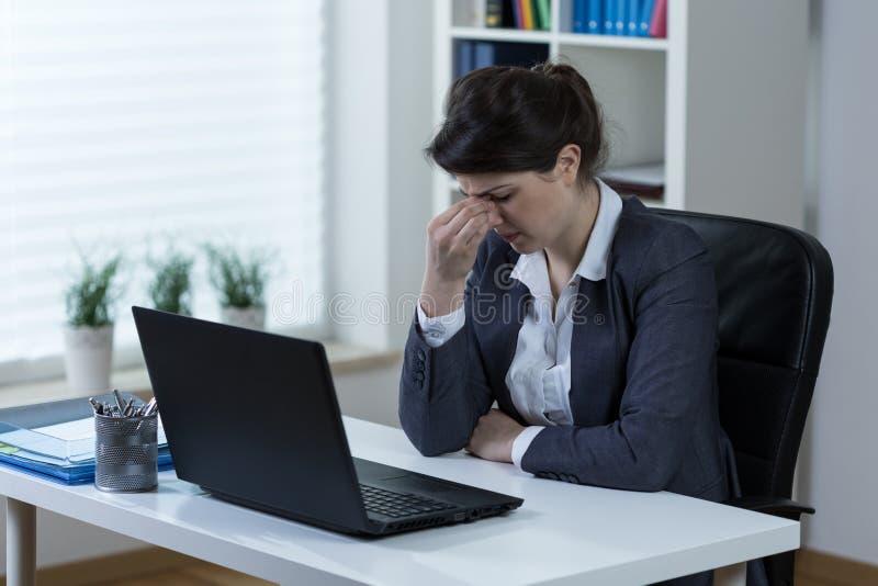 Douleur de sinus photos libres de droits