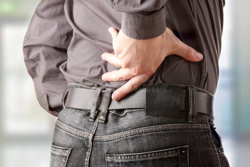 Douleur dorsale image libre de droits