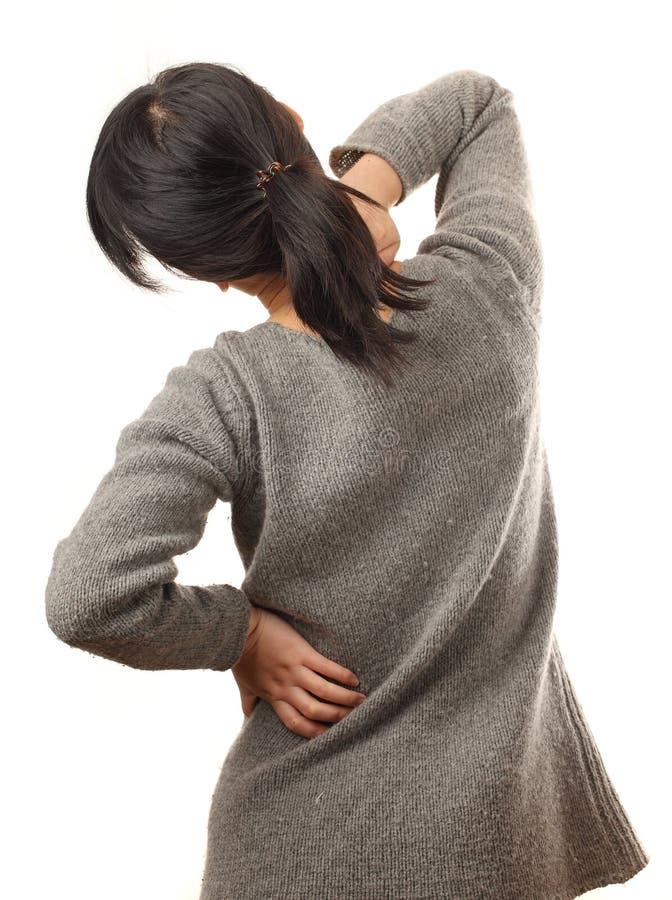 Douleur dorsale images libres de droits