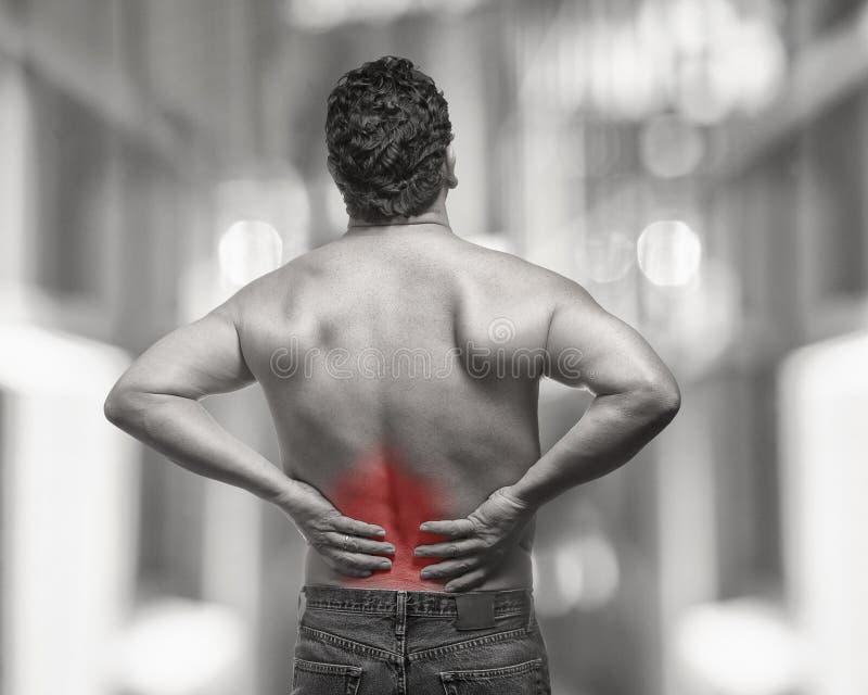 Douleur dorsale photo libre de droits