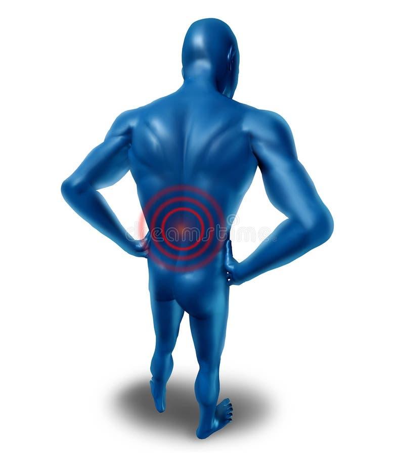 Douleur dorsale humaine illustration libre de droits