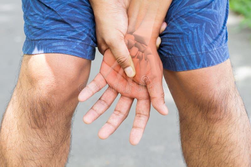 Douleur musculaire de main image libre de droits