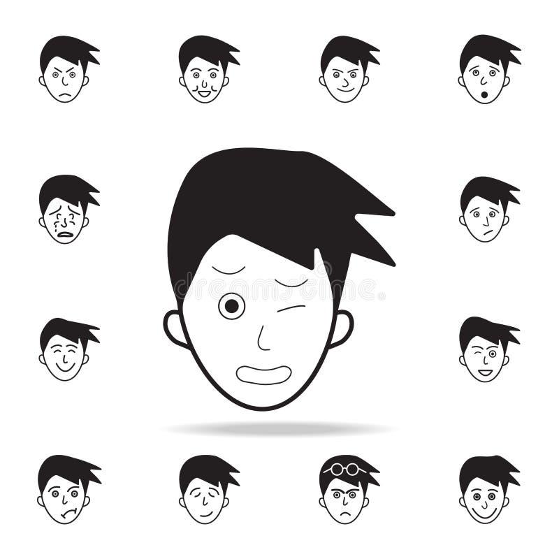 douleur sur l'icône de visage Ensemble détaillé d'icônes faciales d'émotions Conception graphique de la meilleure qualité Une des illustration de vecteur