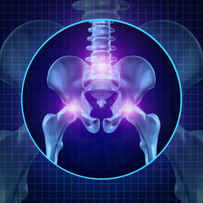 Douleurs articulaires arrières illustration stock