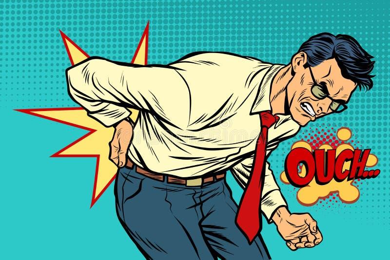 Douleurs de dos, médecine et santé d'homme illustration de vecteur