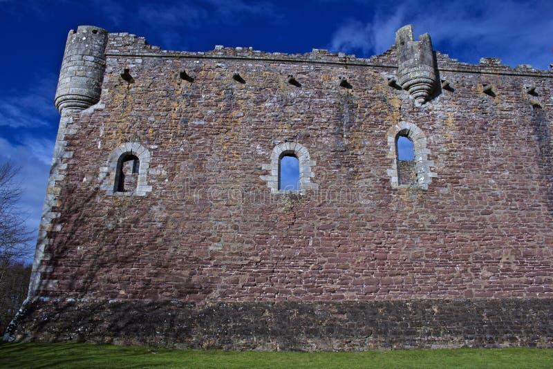 Doune slott i central Skottland och uppsättning av Monty Python arkivfoton