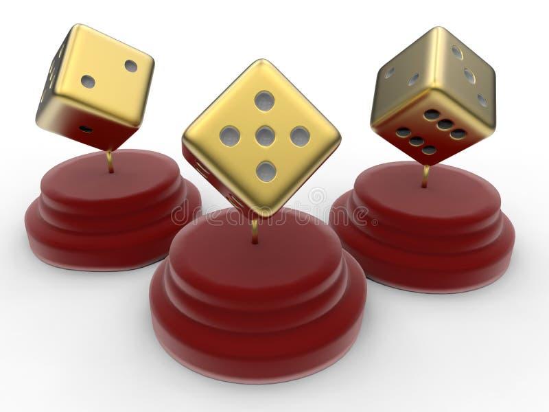 Dourado corta o conceito das concessões ilustração royalty free
