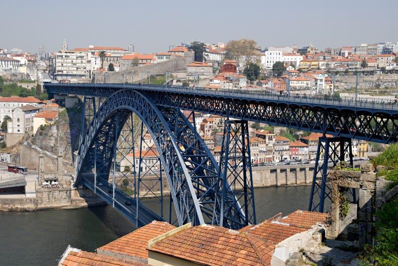 douro de passerelle au-dessus de fleuve de Porto photo stock