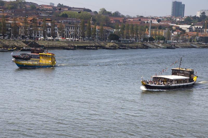Douro flod Vila Nova de Gaia Portugal royaltyfri foto