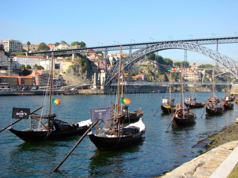 douro porto шлюпок стоковая фотография