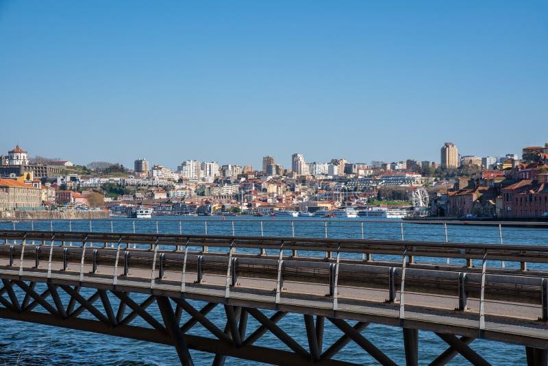 Douro river in Porto Portugal stock photography