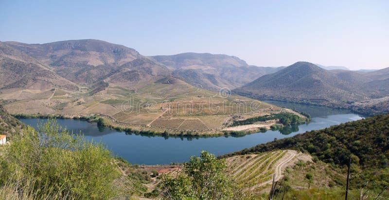 Douro riverscape royalty-vrije stock afbeeldingen