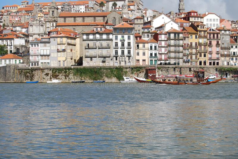Douro rzeczny i łodzie zdjęcie stock