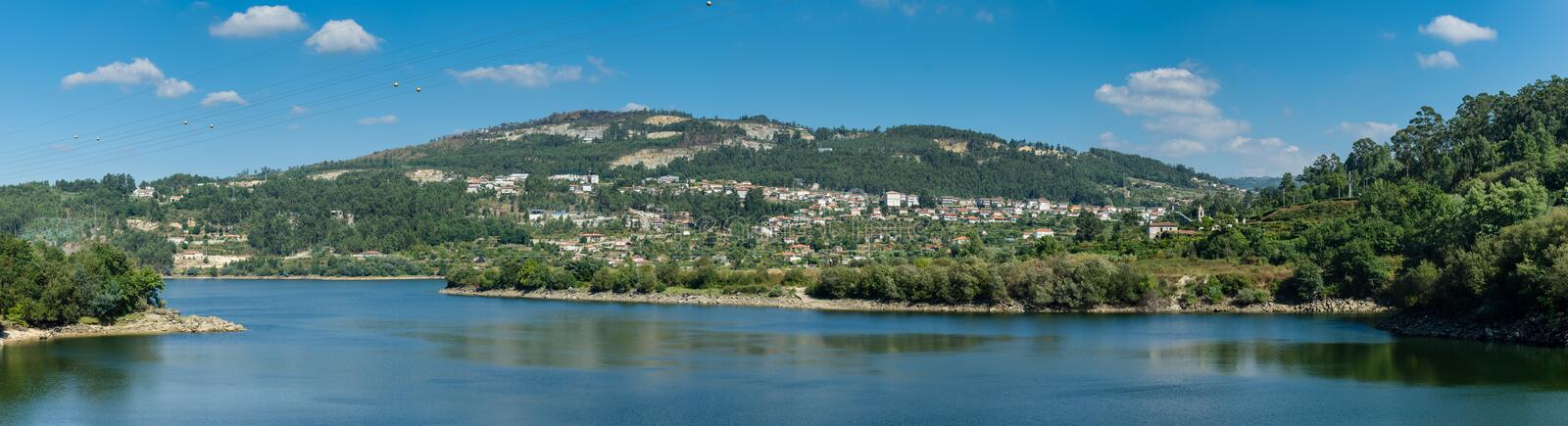 Douro Valley. Panoramic view of Douro Valley. Portugal's port wine region. Point of interest in Portugal stock photos