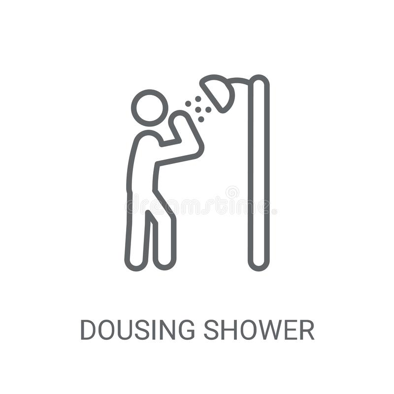 Dousing Shower icon. Trendy Dousing Shower logo concept on white royalty free illustration