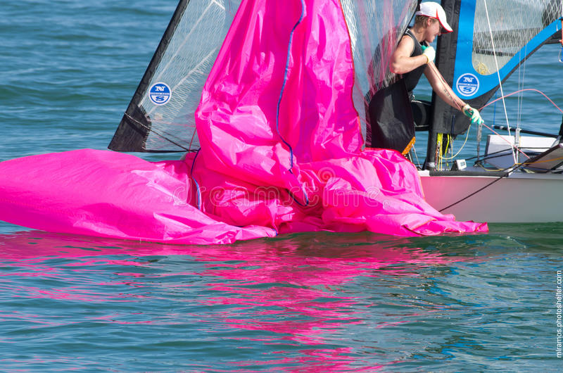 Download Dousing The Spinnaker, 49erFX Editorial Photo - Image: 29023851