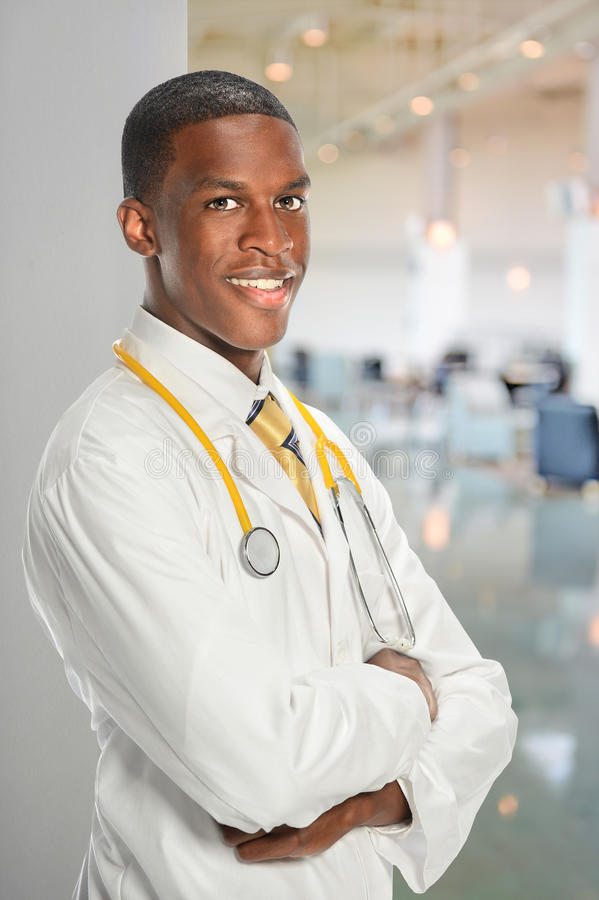 Doutor afro-americano imagem de stock