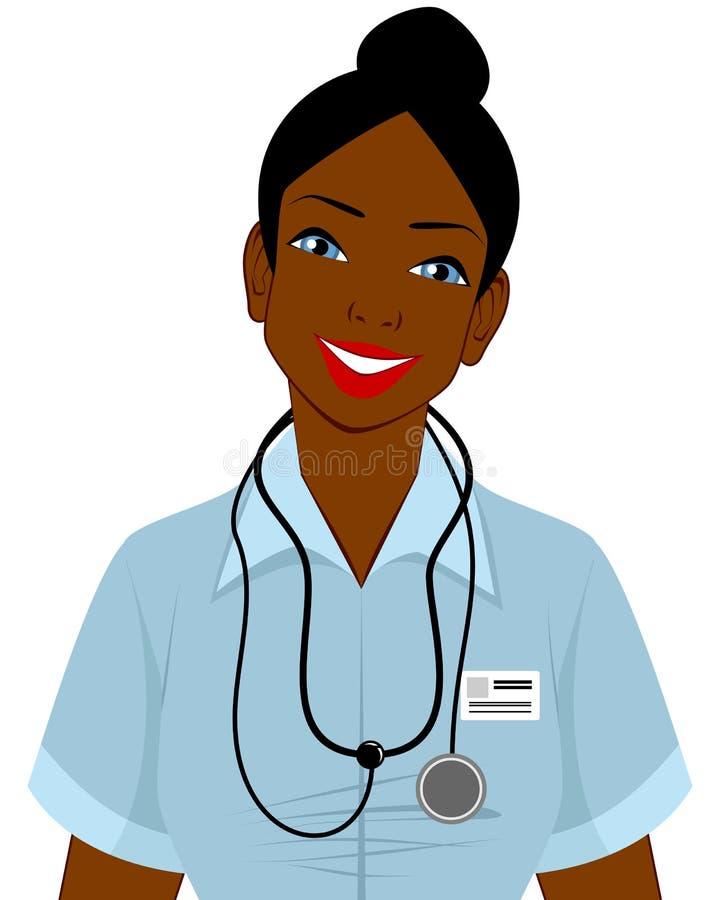 Doutor afro-americano ilustração royalty free