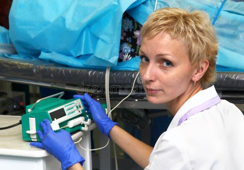 Doutor - anesthesiologist foto de stock