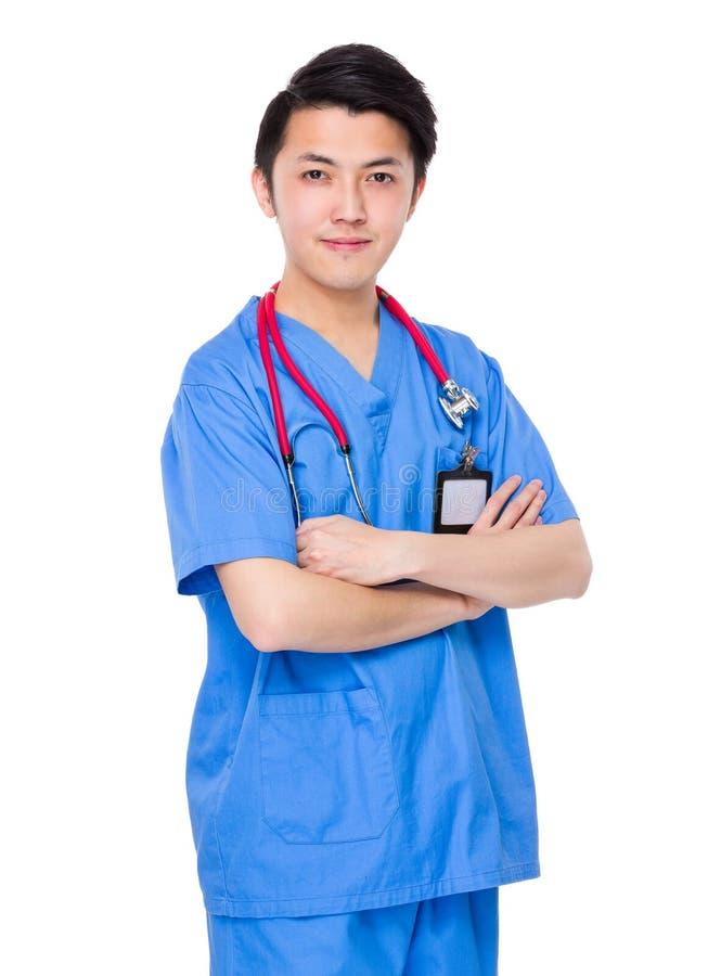 Doutor asiático do homem imagens de stock
