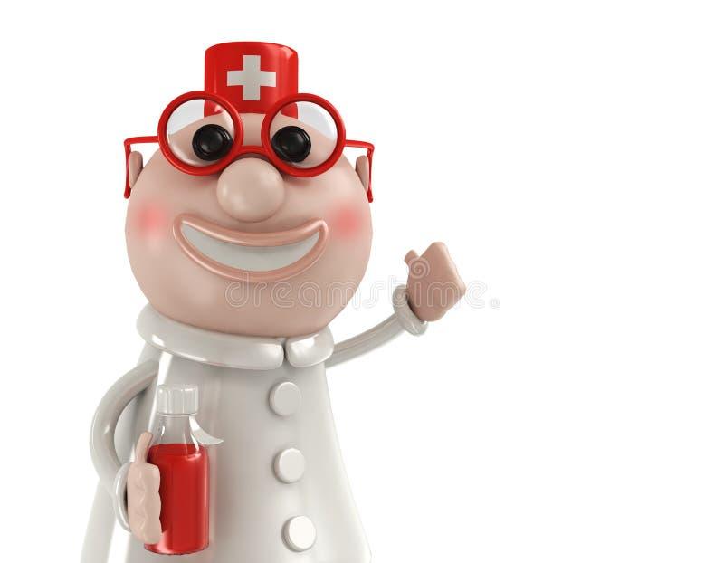 Doutor bonito ilustração stock