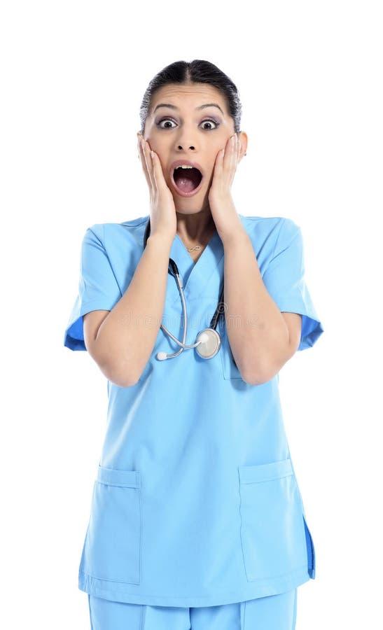 Doutor bonito da enfermeira - trabalhadores dos cuidados médicos foto de stock