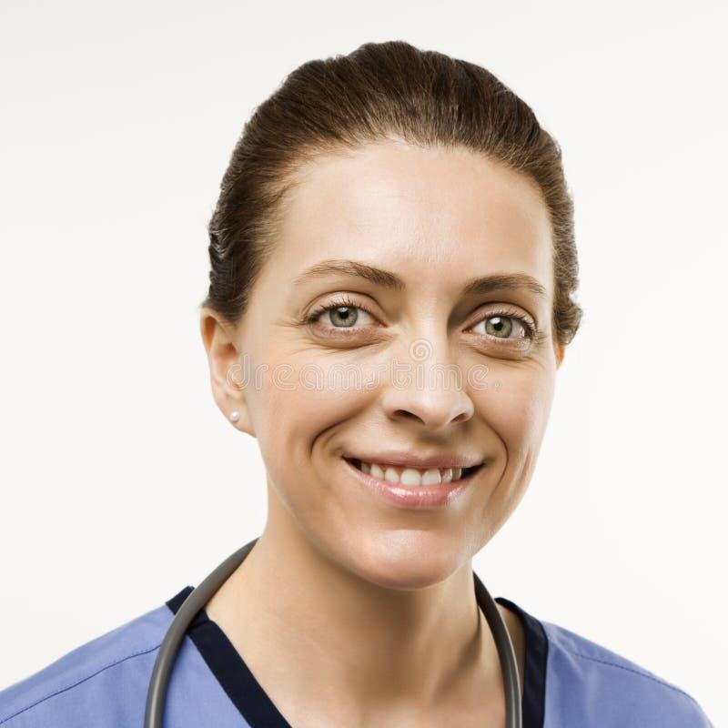 Doutor caucasiano da mulher. imagens de stock royalty free