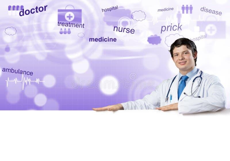 Doutor com bandeira foto de stock