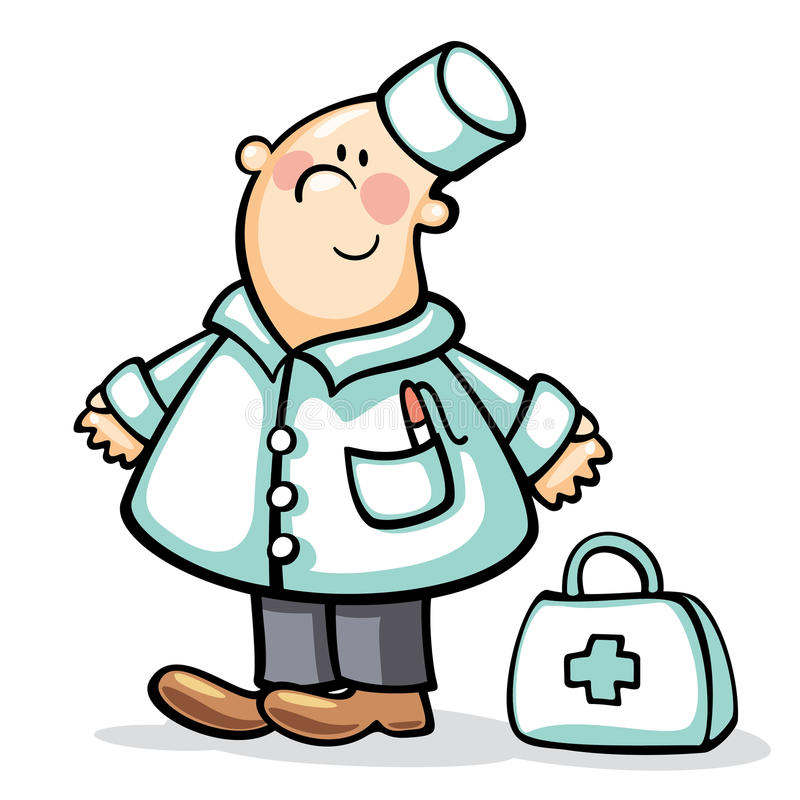 Doutor com caso ilustração royalty free