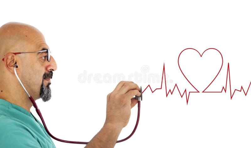 Doutor com estetoscópio imagem de stock