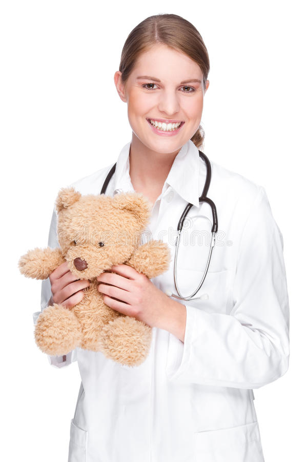 Doutor com peluche imagens de stock