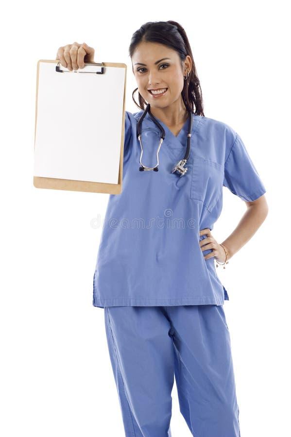 Doutor com prancheta foto de stock royalty free