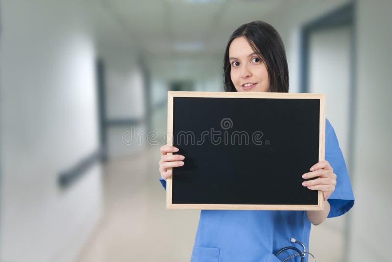 Doutor com quadro-negro imagem de stock royalty free