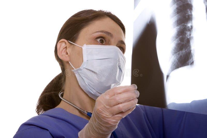 Doutor com raio X imagem de stock
