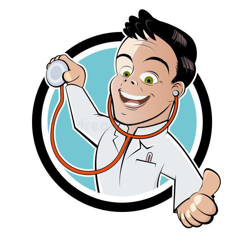 Doutor com stethoscpe ilustração stock